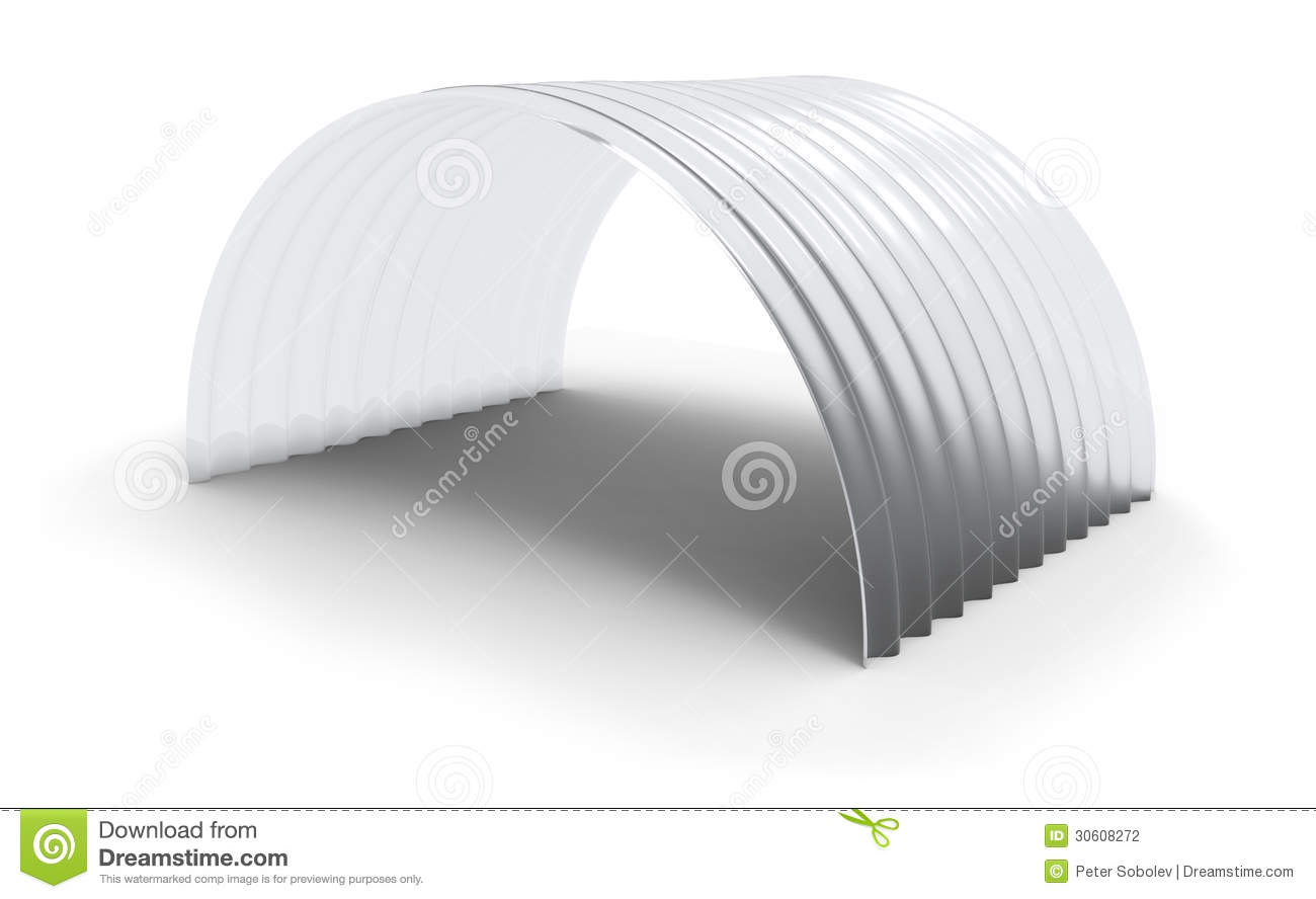 Curved Corrugated Polycarbonate Sheet Stock Illustration