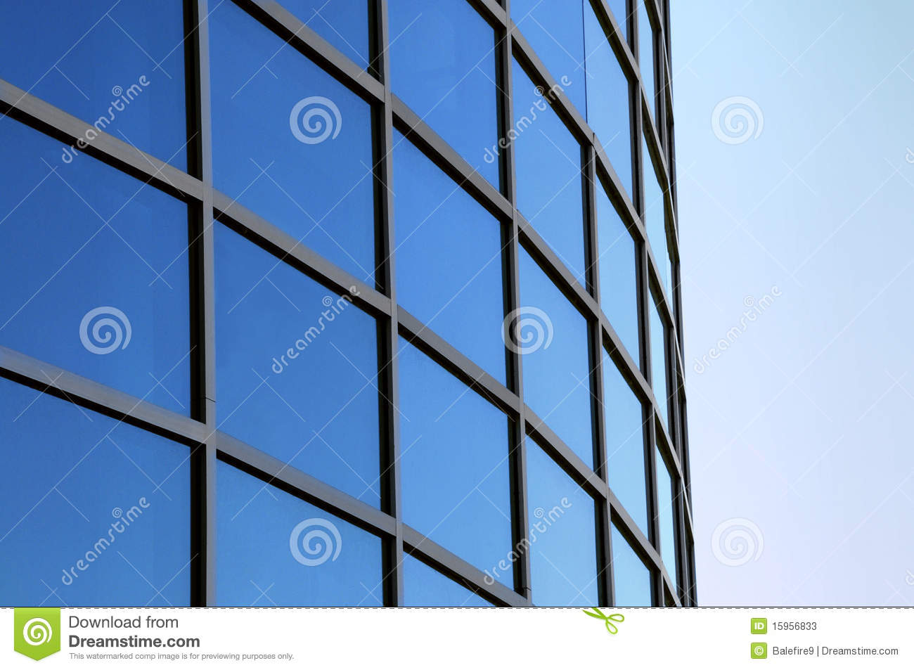 Curved Exterior Windows Of A Modern Building Stock Photos