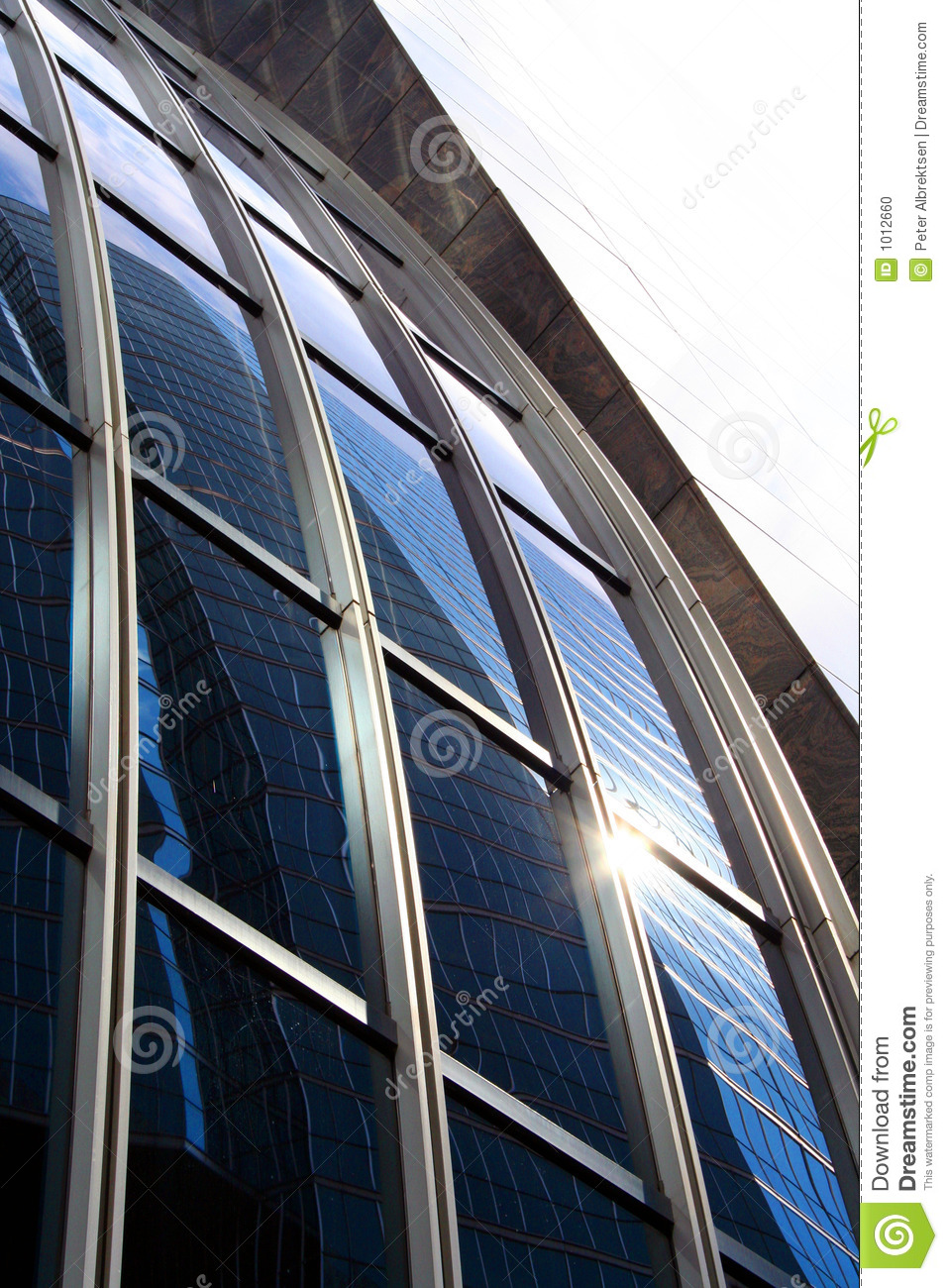 Download Curved Glass stock photo. Image of frame, tinted, reflection - 1012660