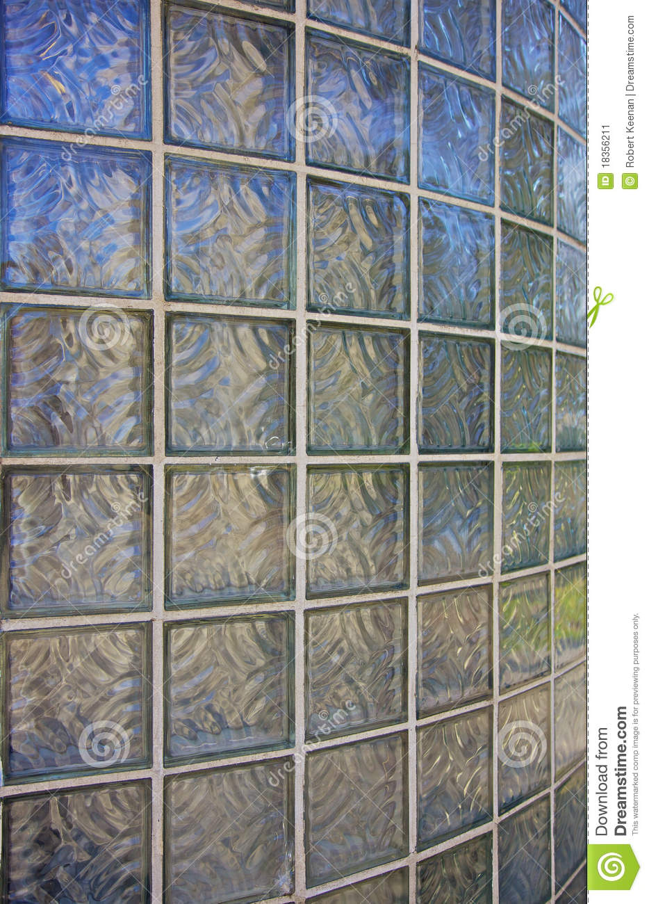 Curved glass brick wall stock image image 18356211 - Glass bricks designs walls ...