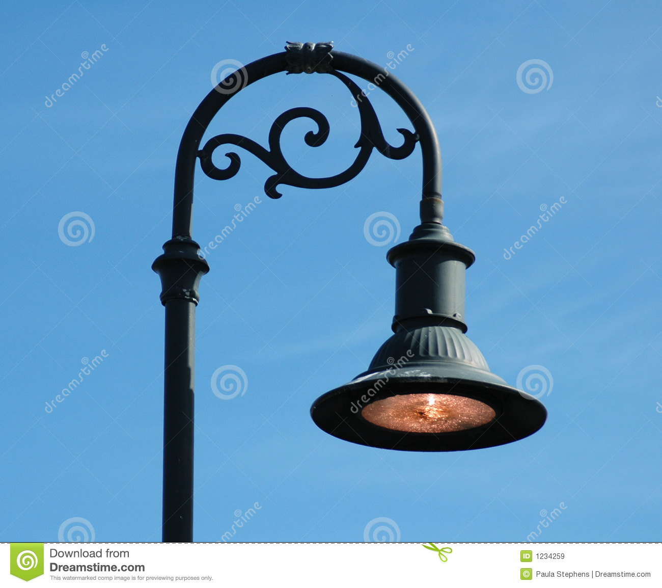 Post: Curved Lamp Post Royalty Free Stock Images