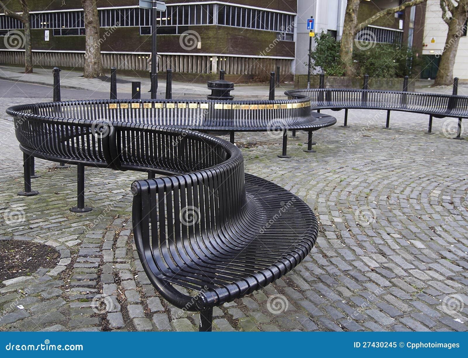 ... Metal Outdoor Seating Royalty Free Stock Photo - Image: 27430245