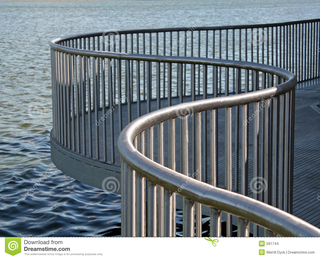 Curved Metal Railing Stock Photo Image Of Steel