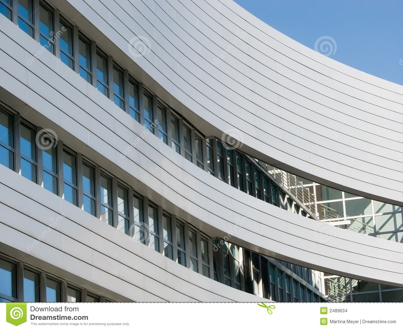 Curved Office Building stock photo. Image of city ...