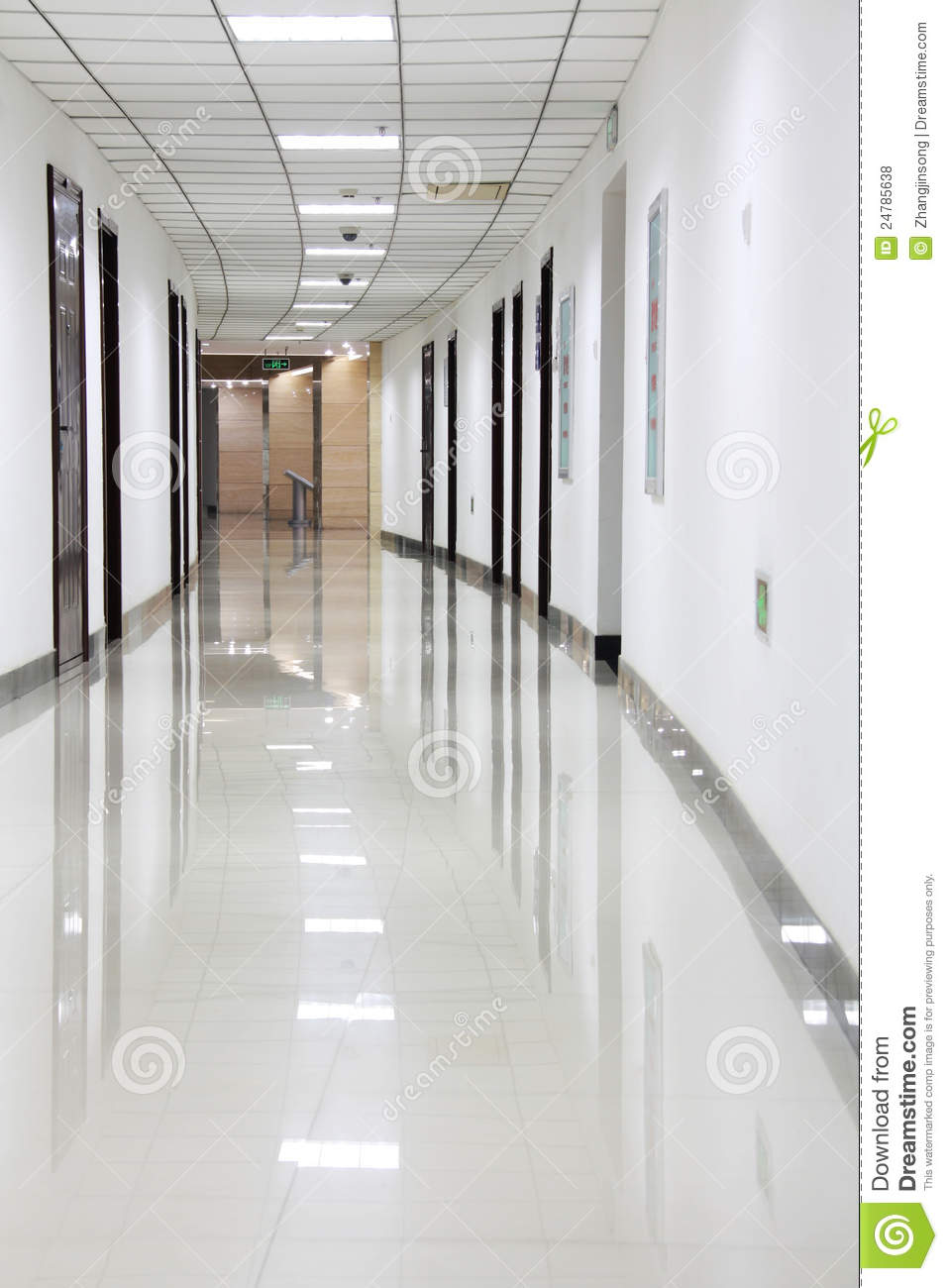 Curved office hallway stock photo image of passageway for Hallway photos