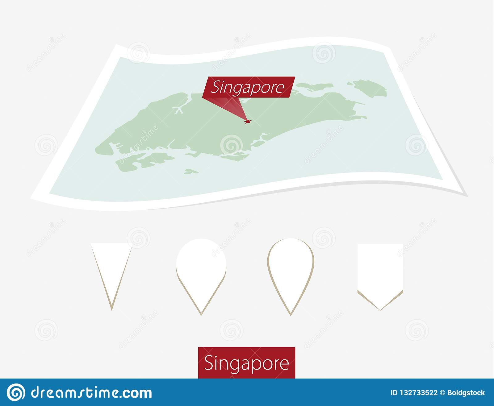 Direction Map Singapore on