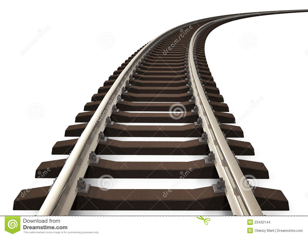 curved railroad track stock images image 23432144 train track clipart free train track clip art free
