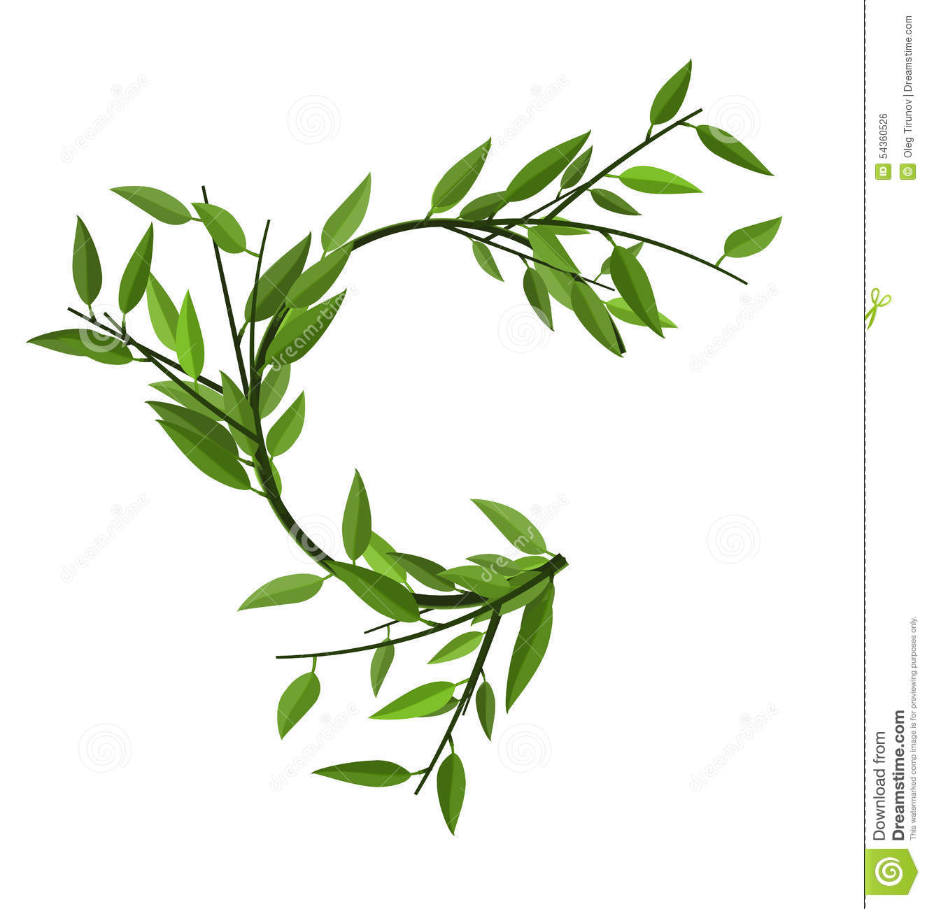 https://thumbs.dreamstime.com/z/curved-round-branch-bamboo-green-leaves-space-text-54360526.jpg