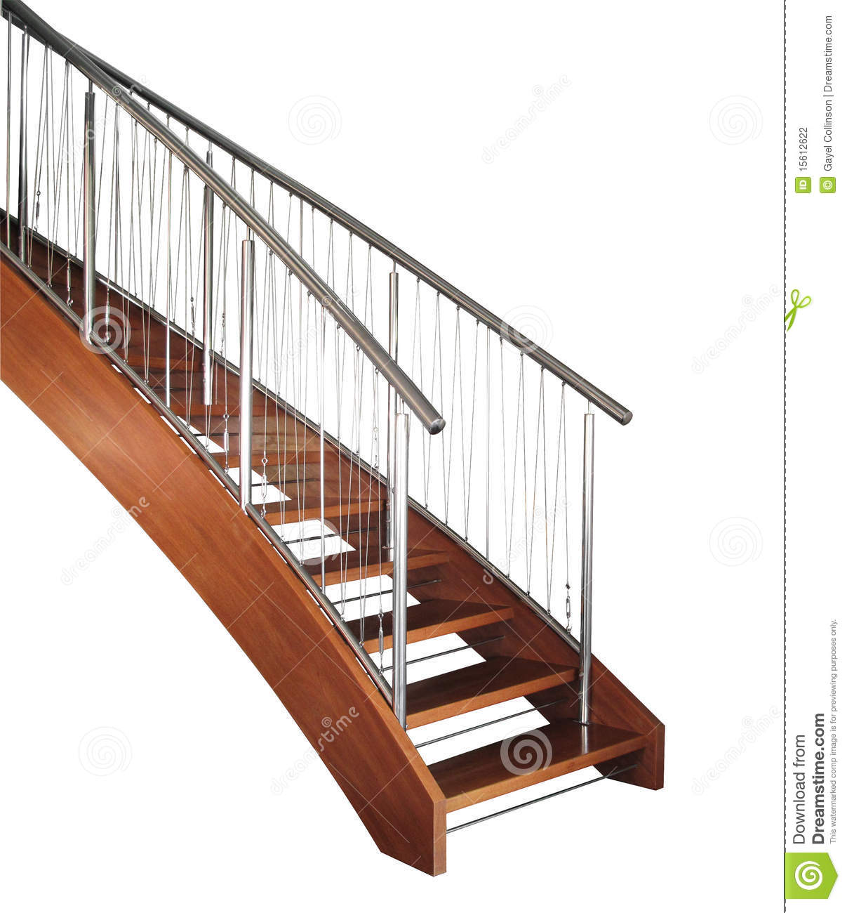 Curved Staircase Stock Photography Image 15612622