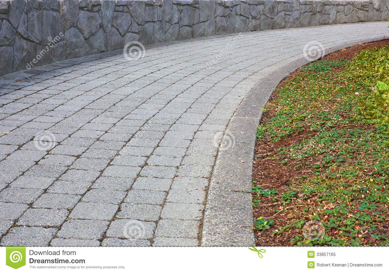 Curved Stone Path Stock Image Image Of Brick Curve