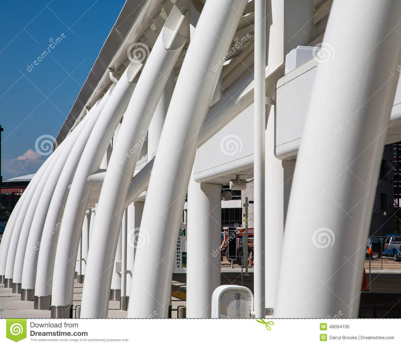 Curved Architecture Curved Blue And White Architecture Editorial Photo Image 36169281