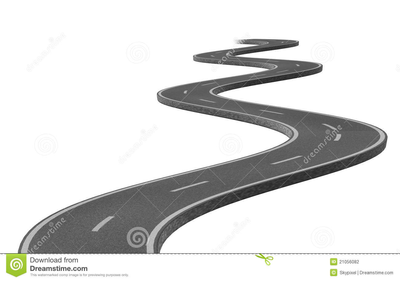 Winding Road Clipart Curved winding asphalt road