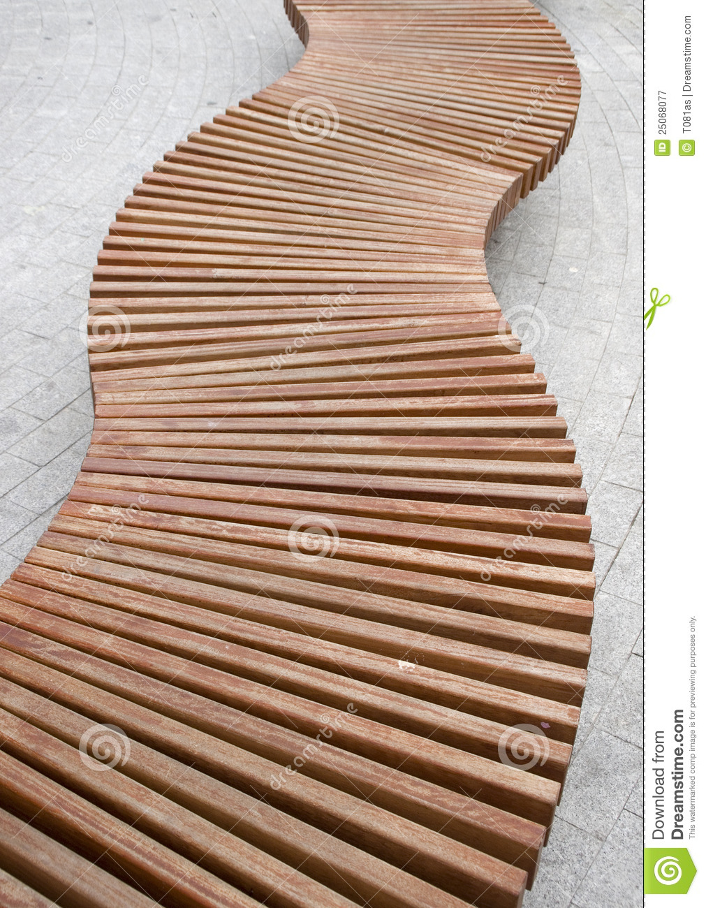 Curved Wood Bench Stock Image Image Of Curve Spiral