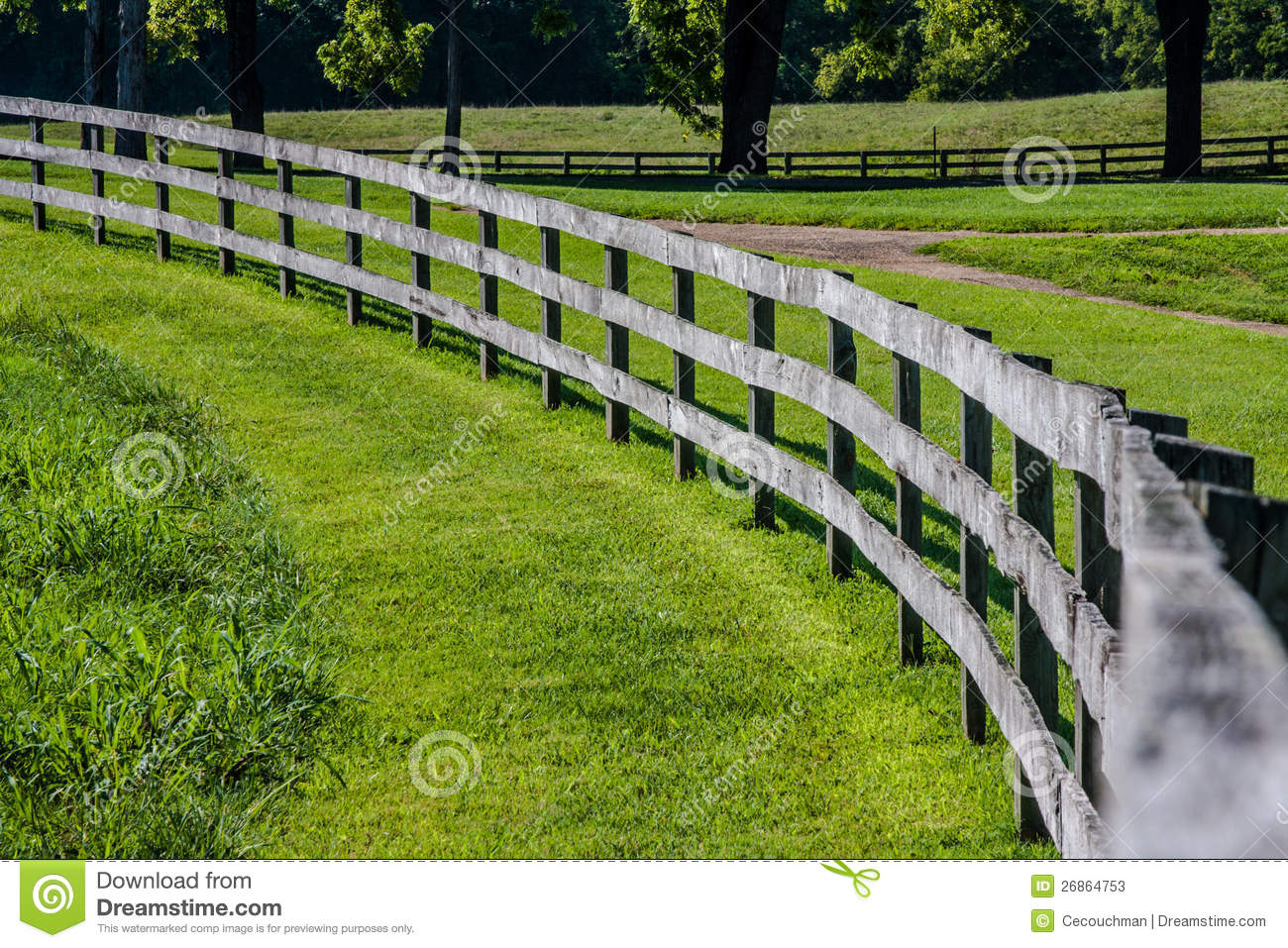 Curved Wooden Fence Stock Image Image Of Rural Trees