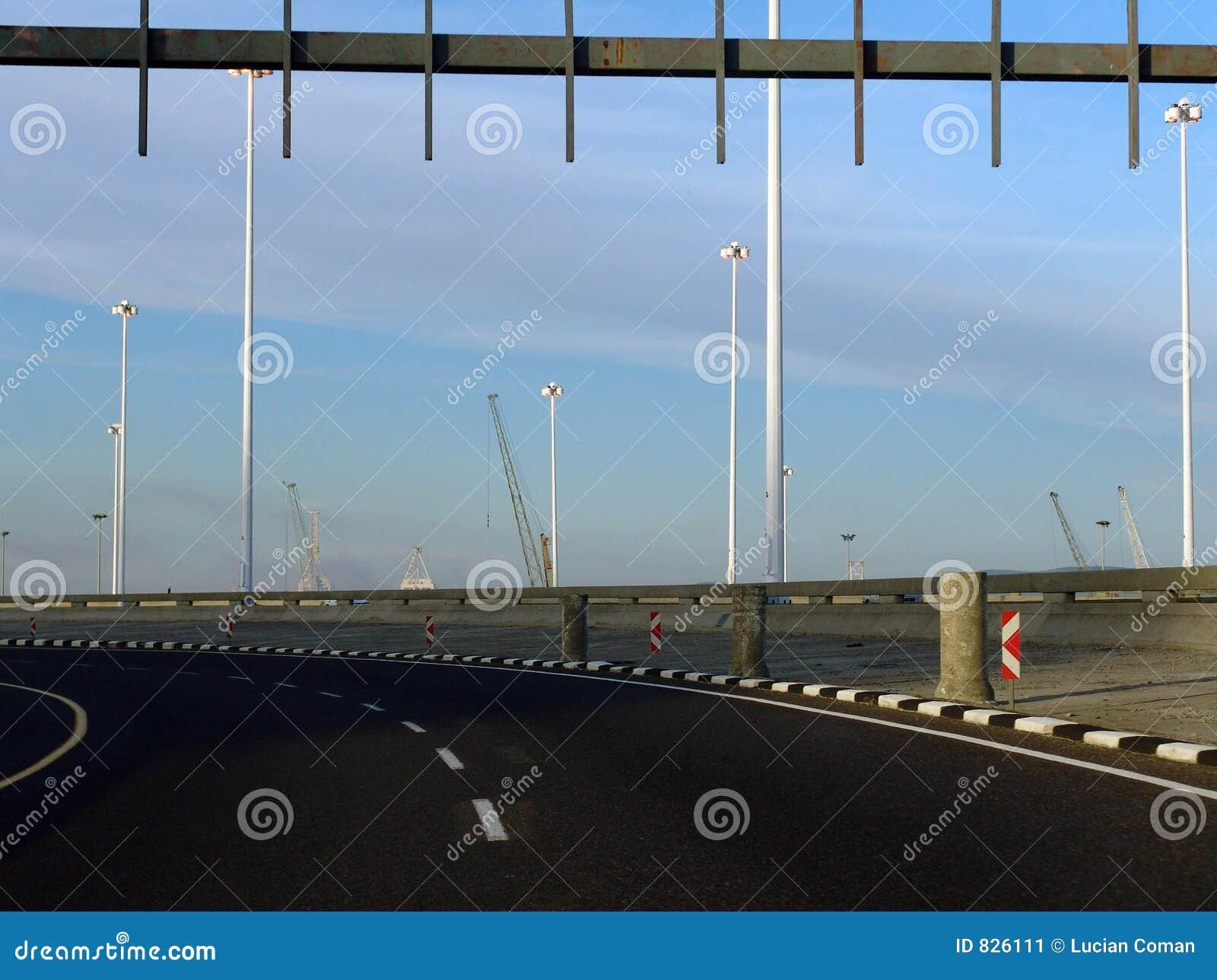 Curving highway