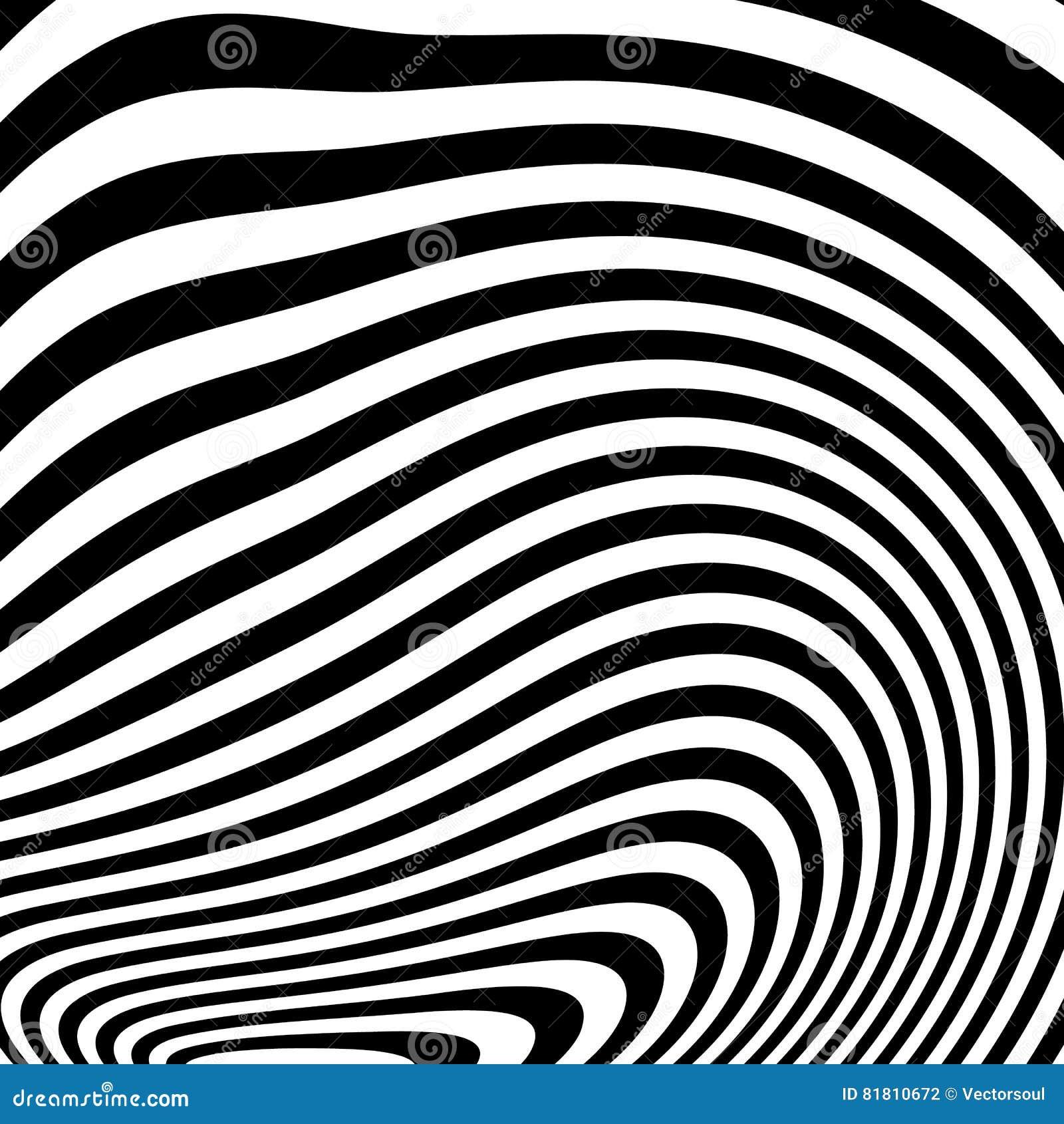 Curvy скачками динамические линии абстрактная геометрическая картина