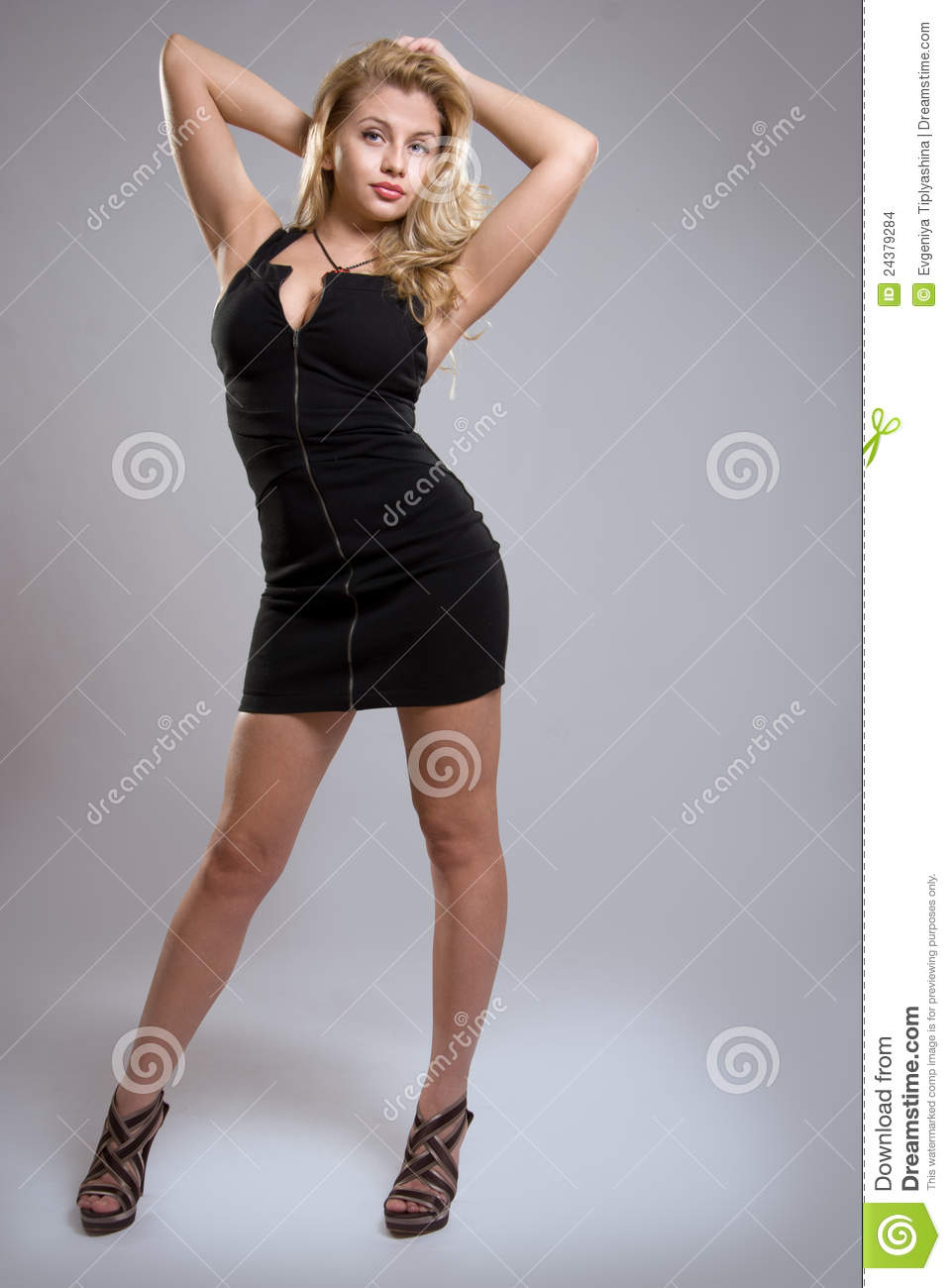 Curvy Blonde Girl Stock Images Image 24379284