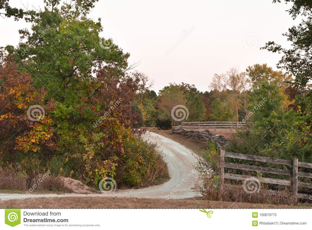 Curved Gravel Road