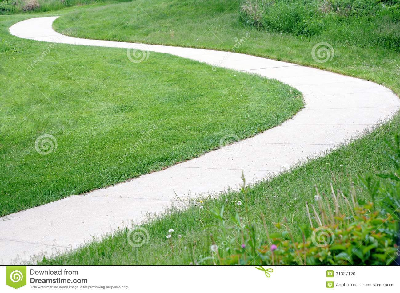 Curvy path stock photo image 31337120 for Cleaning concrete paths