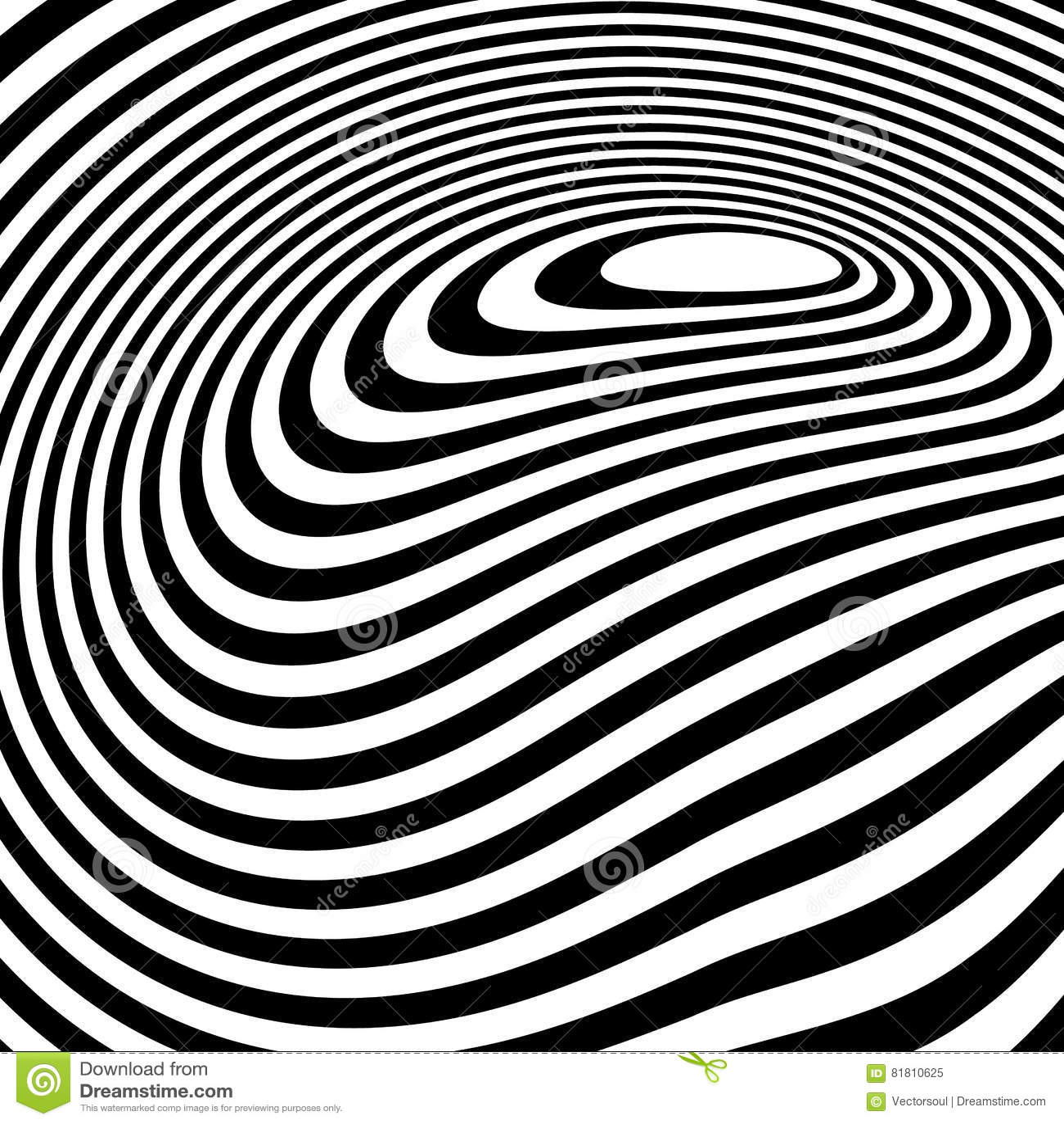 Curvy unregelmäßige dynamische Linien Abstraktes geometrisches Muster