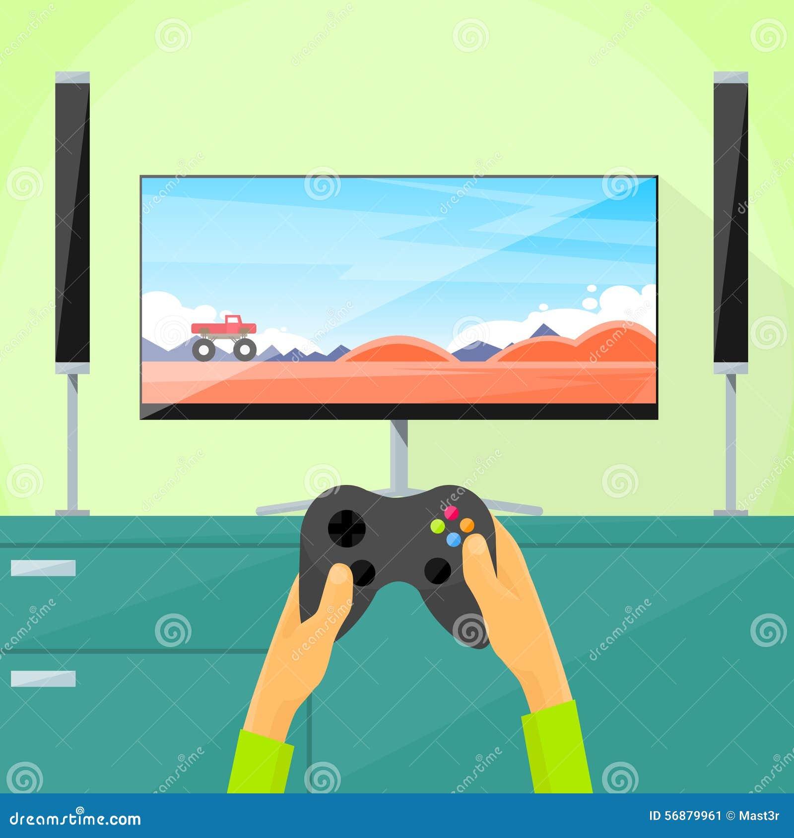 Cuscinetto della tenuta dello schermo del video gioco TV del gioco del Gamer
