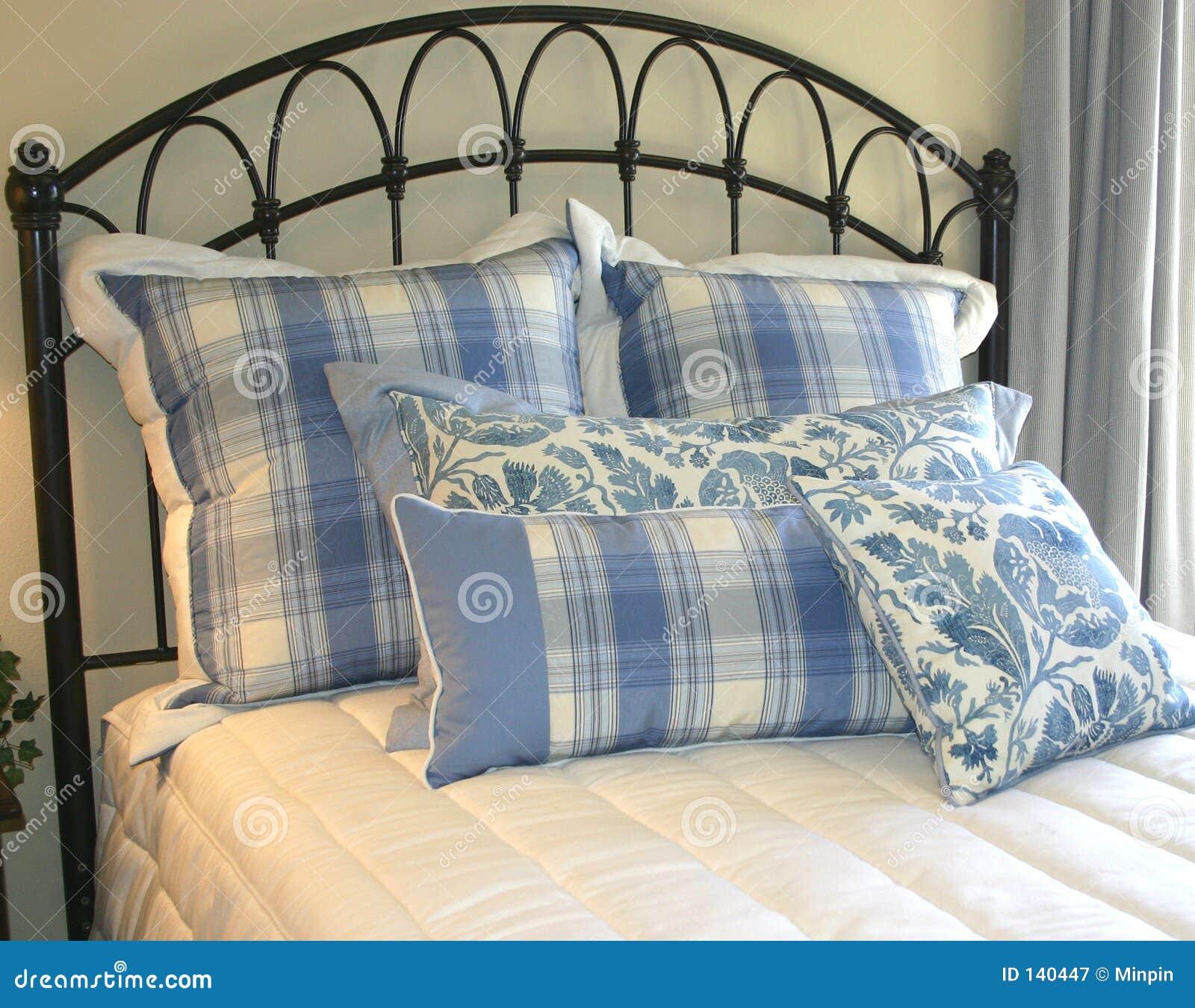 Cuscini in azzurro