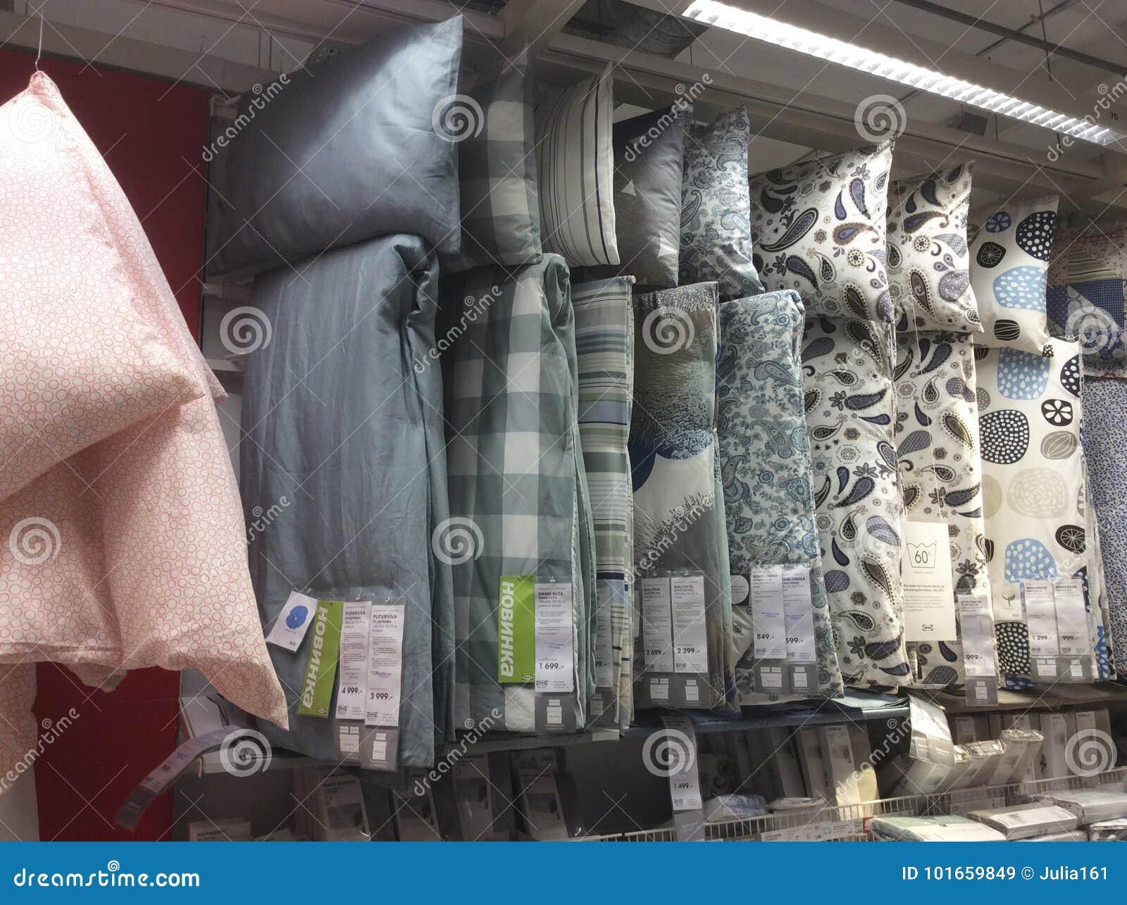 Negozio Di Cuscini.Cuscini Nel Negozio Di Ikea Mosca Immagine Stock Editoriale