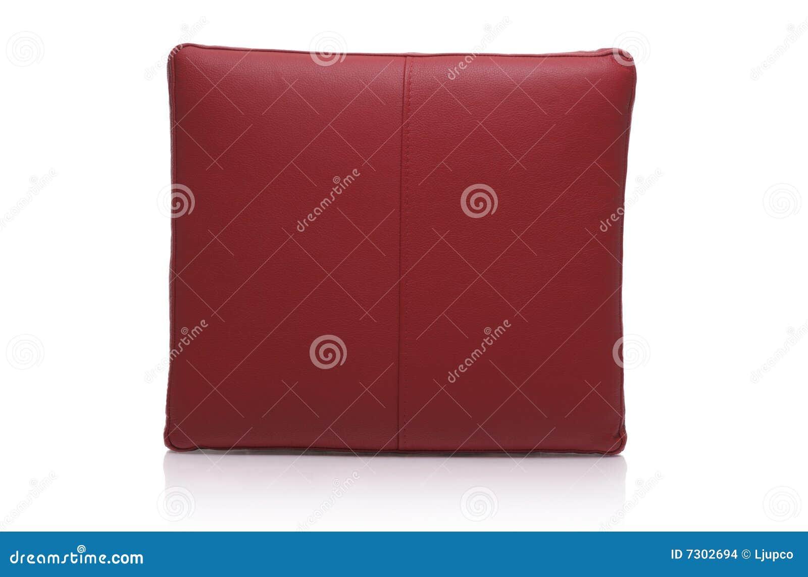 Cuscino di cuoio rosso