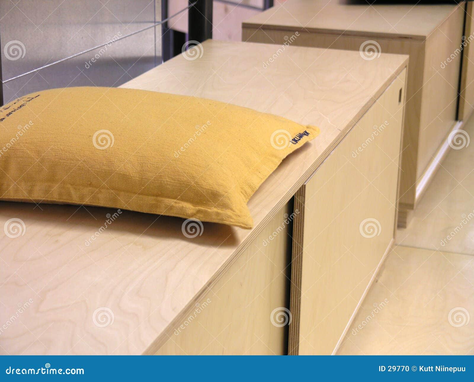 Cuscino su un banco