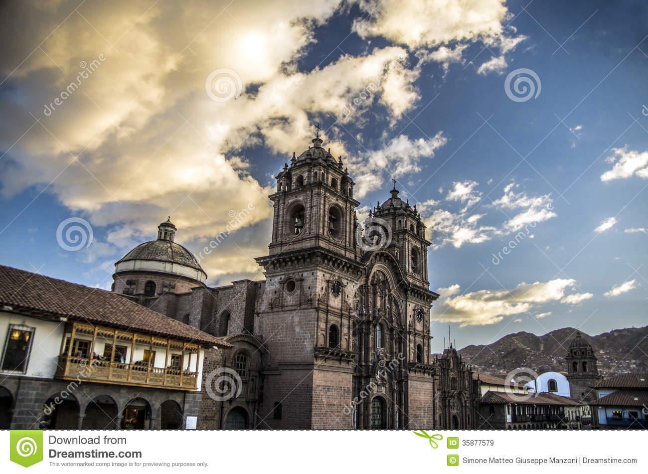 Download Cusco cathedral, Peru stock image. Image of cross, inca - 35877579