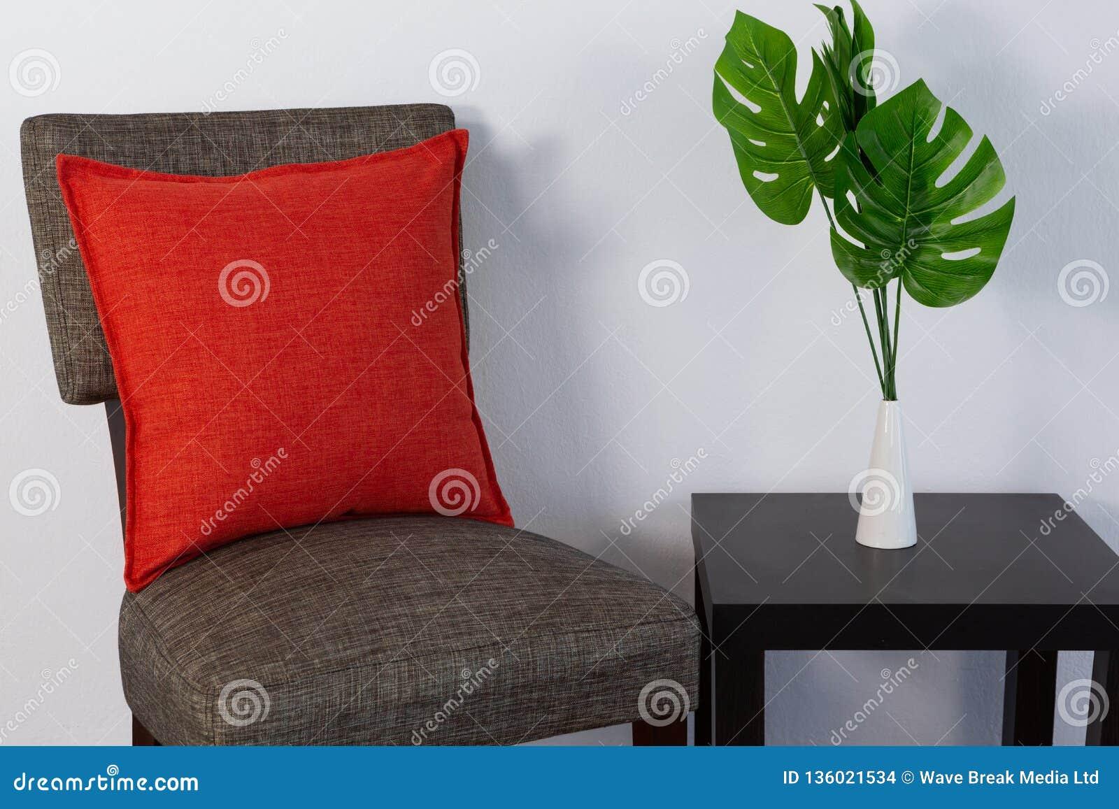 Cushion arranged on chair