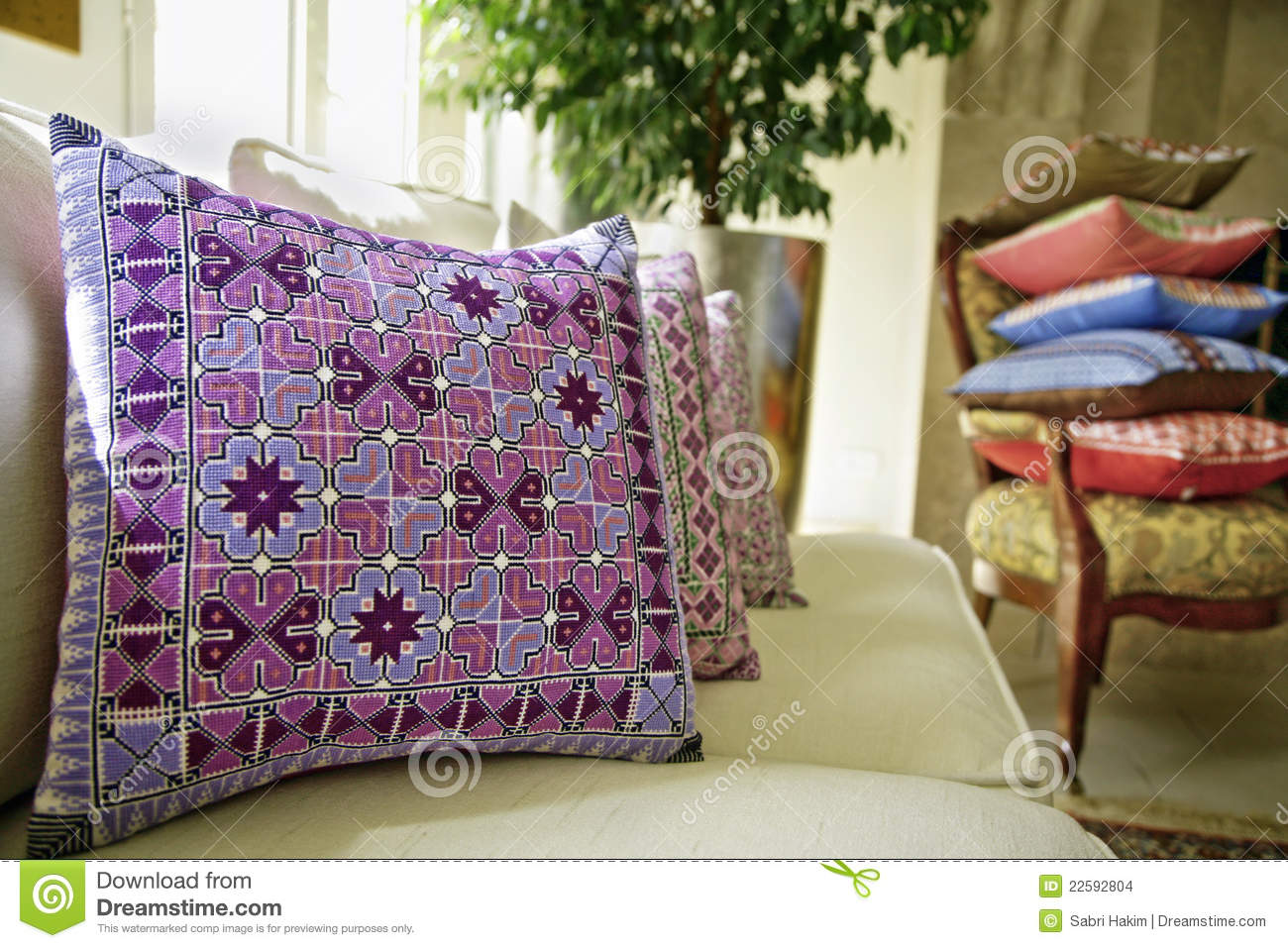 Cushions In Living Room Stock Images Image 22592804