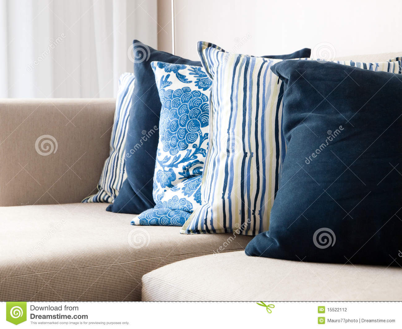 Cushions On A Sofa Stock Photography Image 15522112