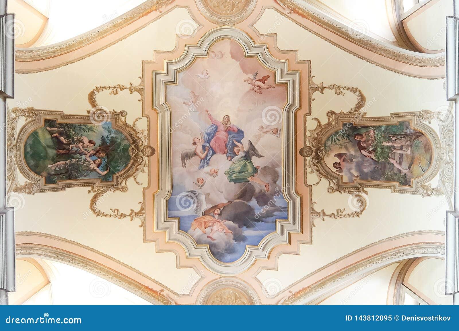 Cussignacco Italy Interiors Of Catholic Church In Cussignacco Chiesa Di San Martino Vescovo Editorial Image Image Of Historical Faith 143812095