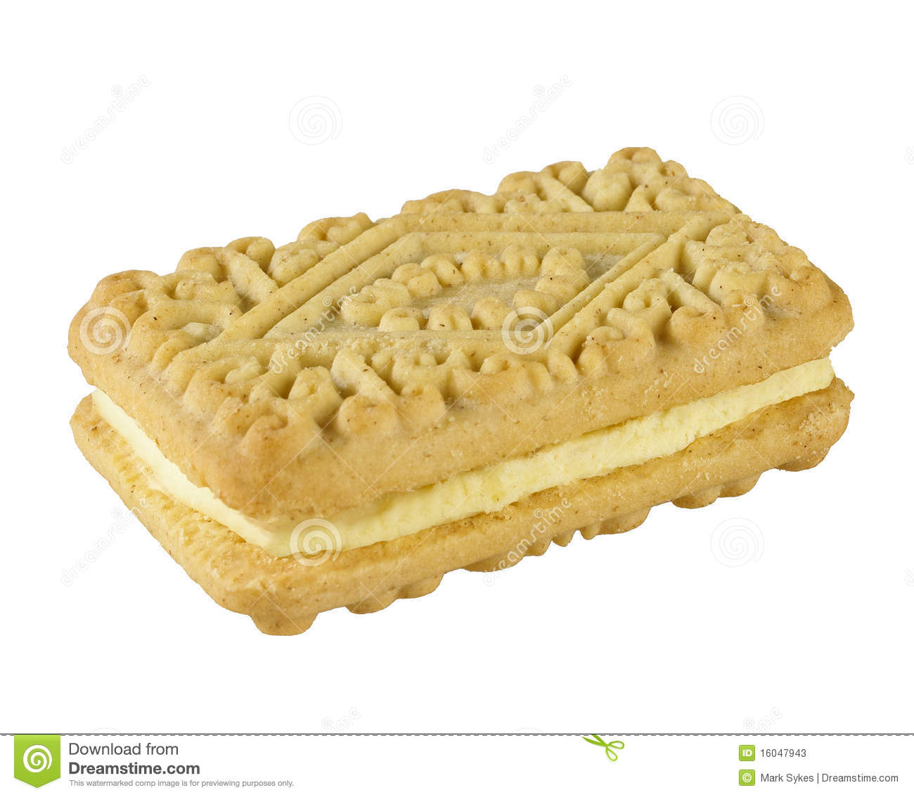 Custard Cream Biscuit Stock Photos - Image: 16047943