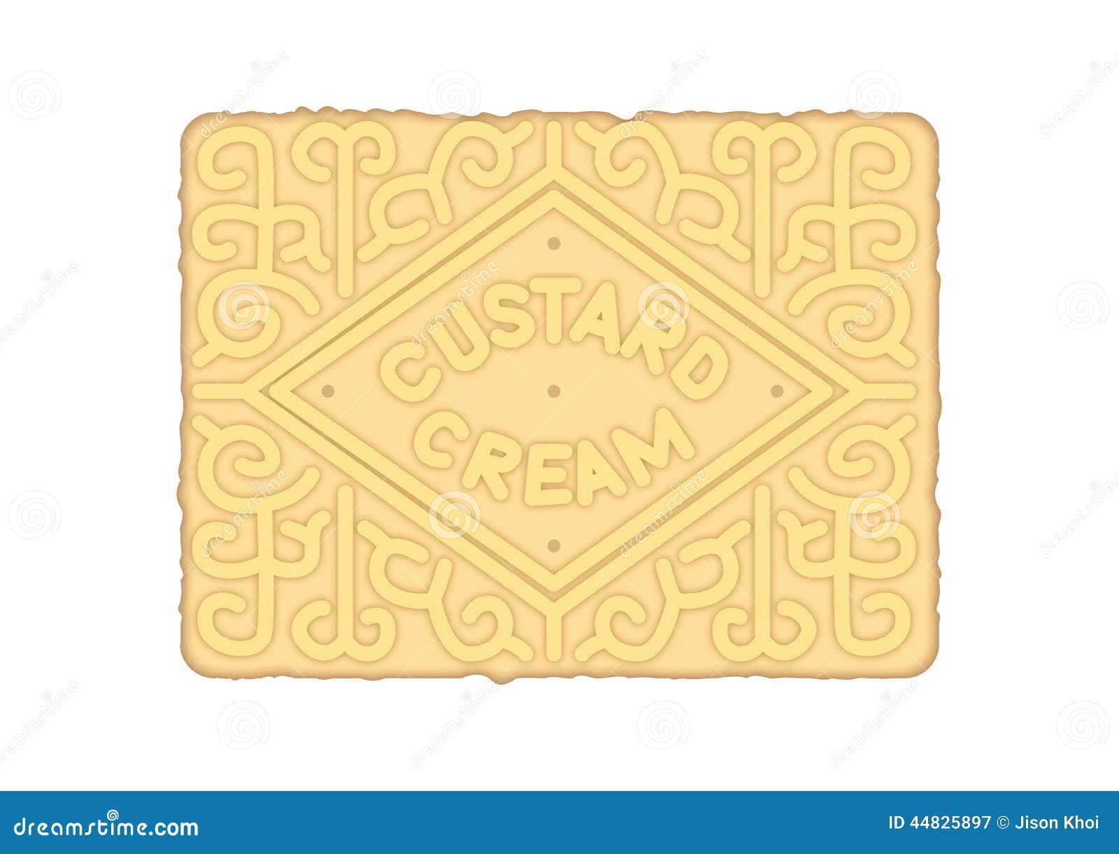 Custard Cream Biscuit Stock Illustration - Image: 44825897