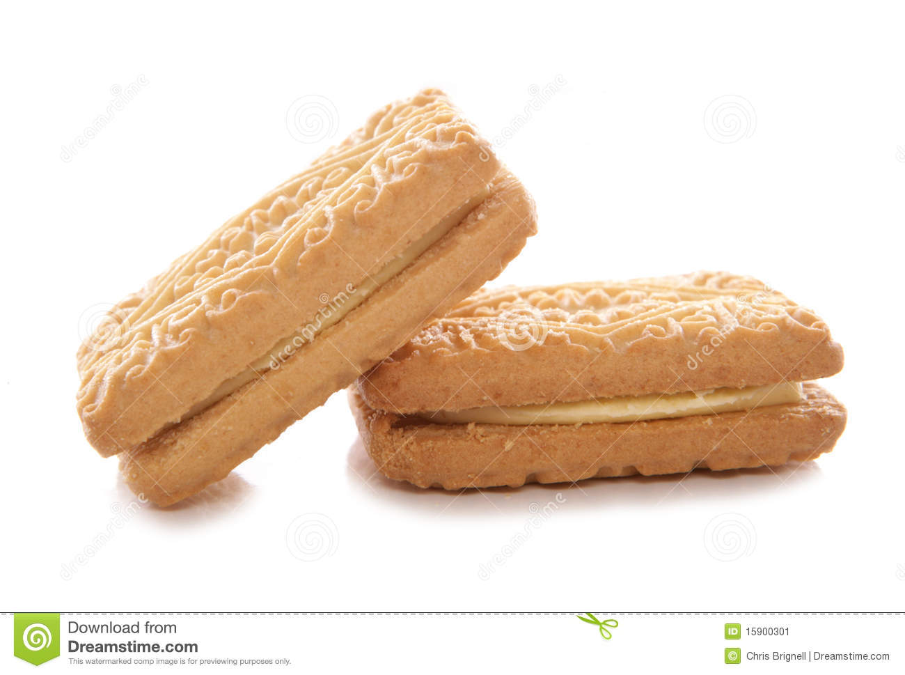 Custard Cream Biscuits Stock Image - Image: 15900301