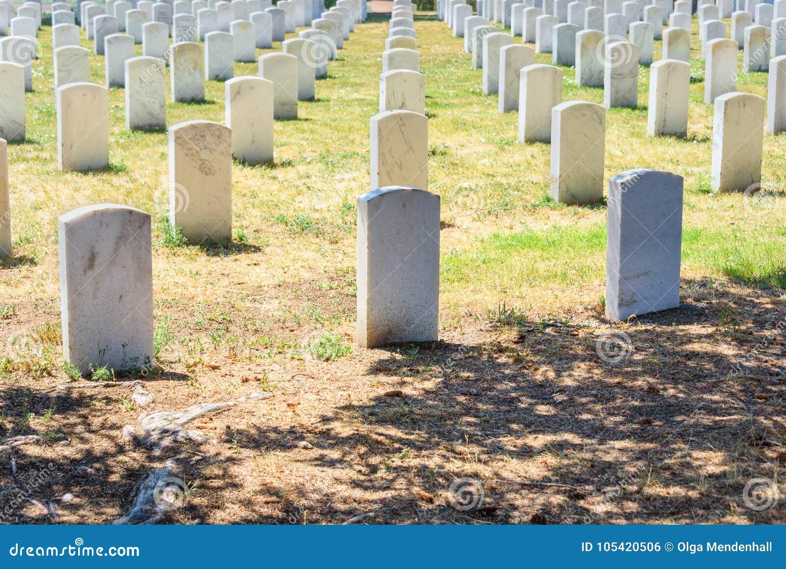 Custer National Cemetery au monument national de champ de bataille de Little Bighorn, Montana, Etats-Unis