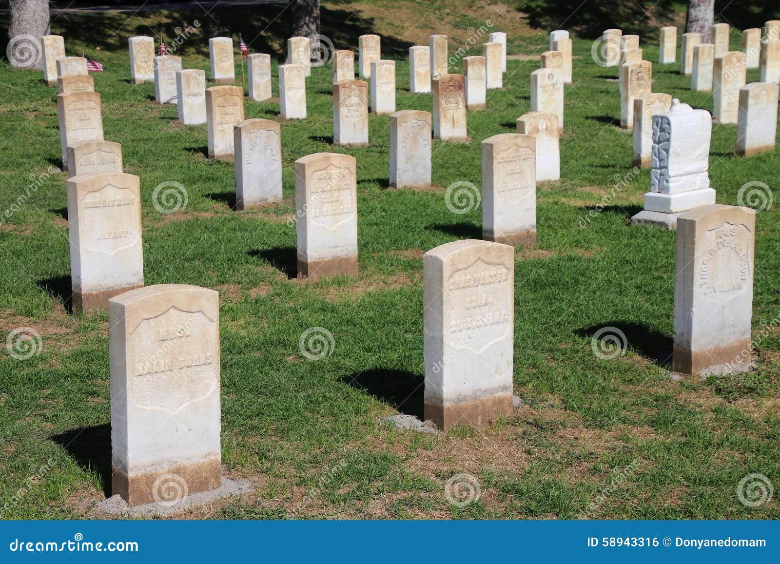Custer National Cemetery au ressortissant de champ de bataille de Little Bighorn