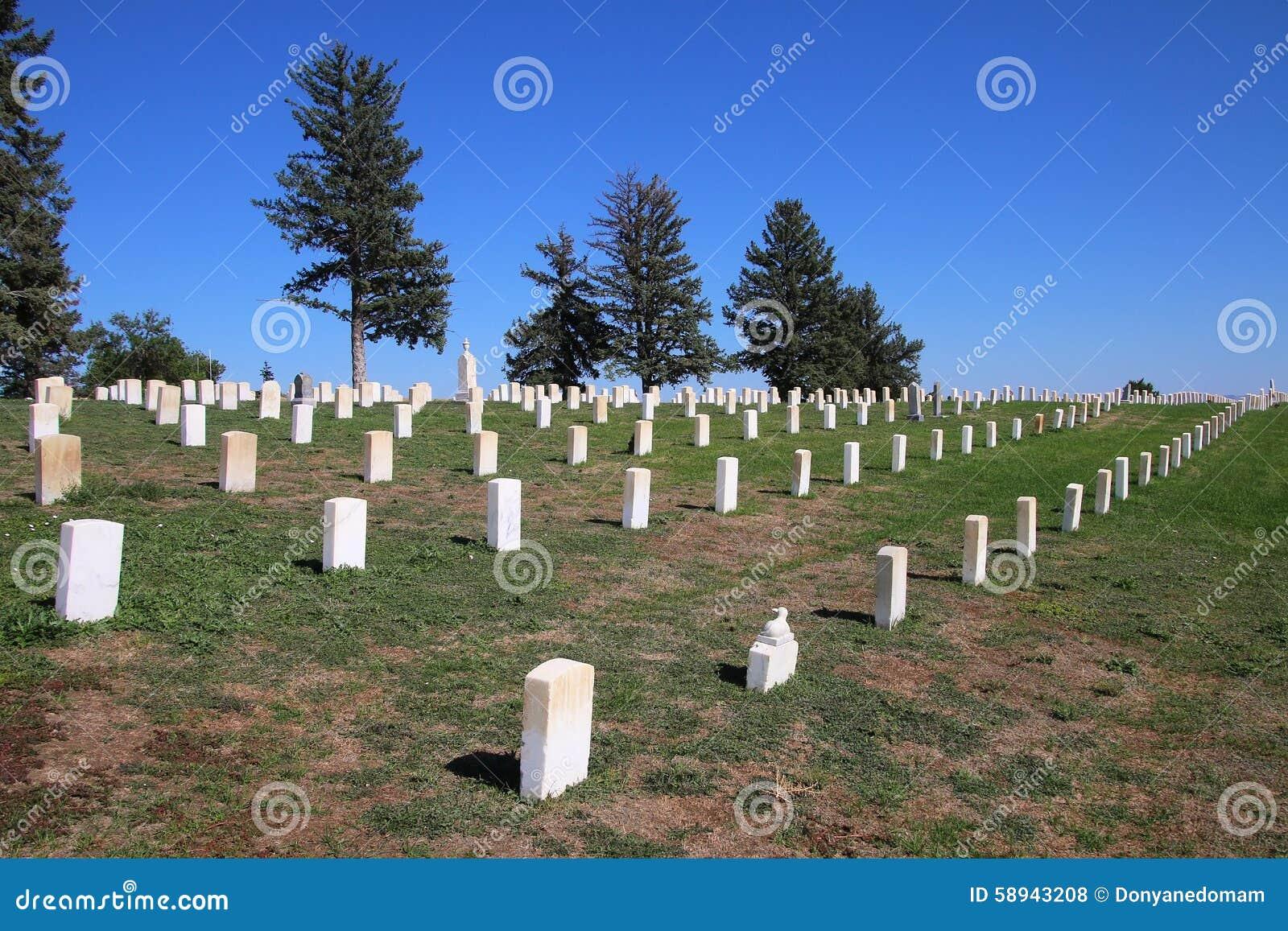 Custer National Cemetery at Little Bighorn Battlefield National