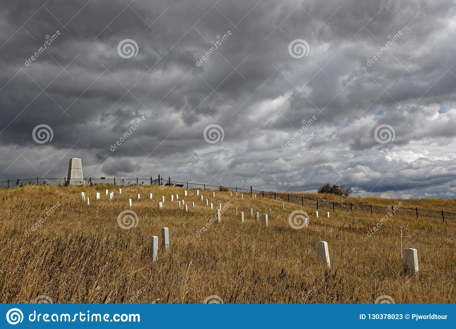 Custer National Cemetery and monument at Little Bighorn