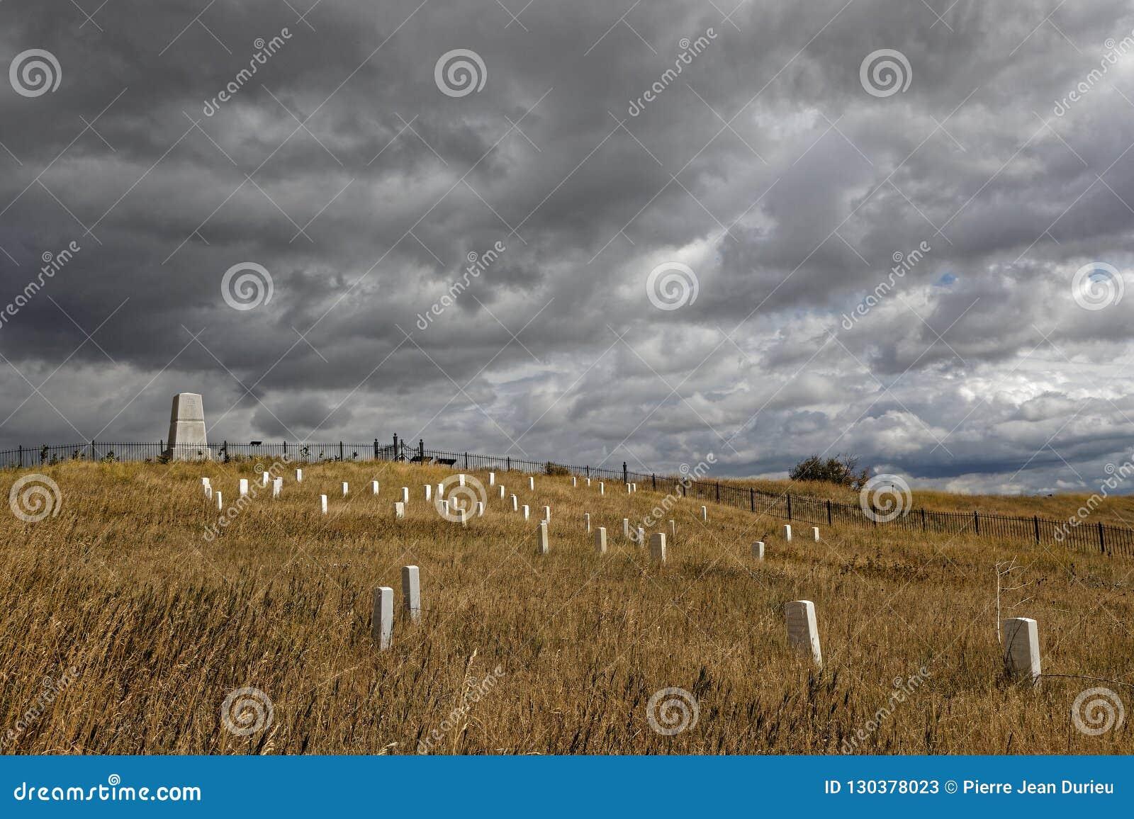 Custer National Cemetery och monument på Little Bighorn
