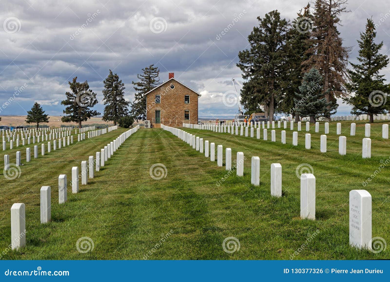 Custer National Cemetery på Little Bighornslagfältet