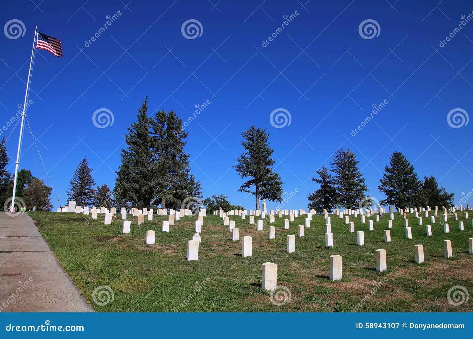 Custer National Cemetery på Little Bighornslagfältmedborgaren