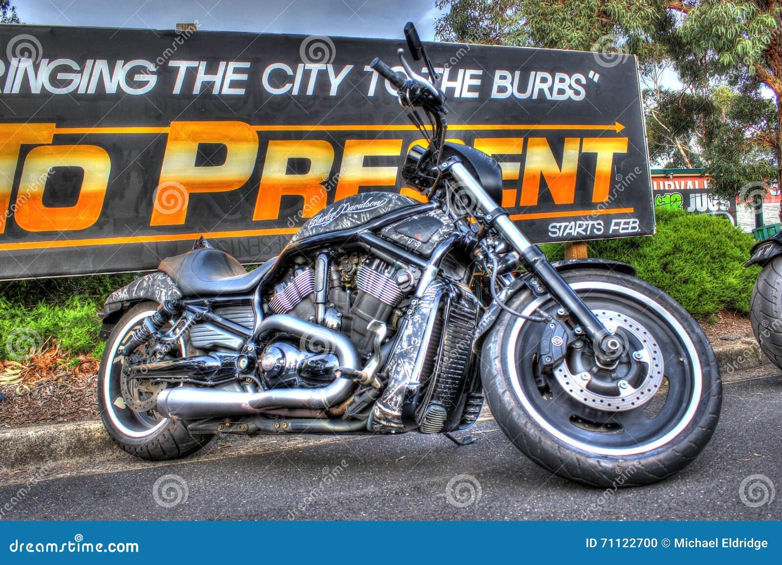 Custom American Harley Davidson Motorbike Editorial Image   Image ...