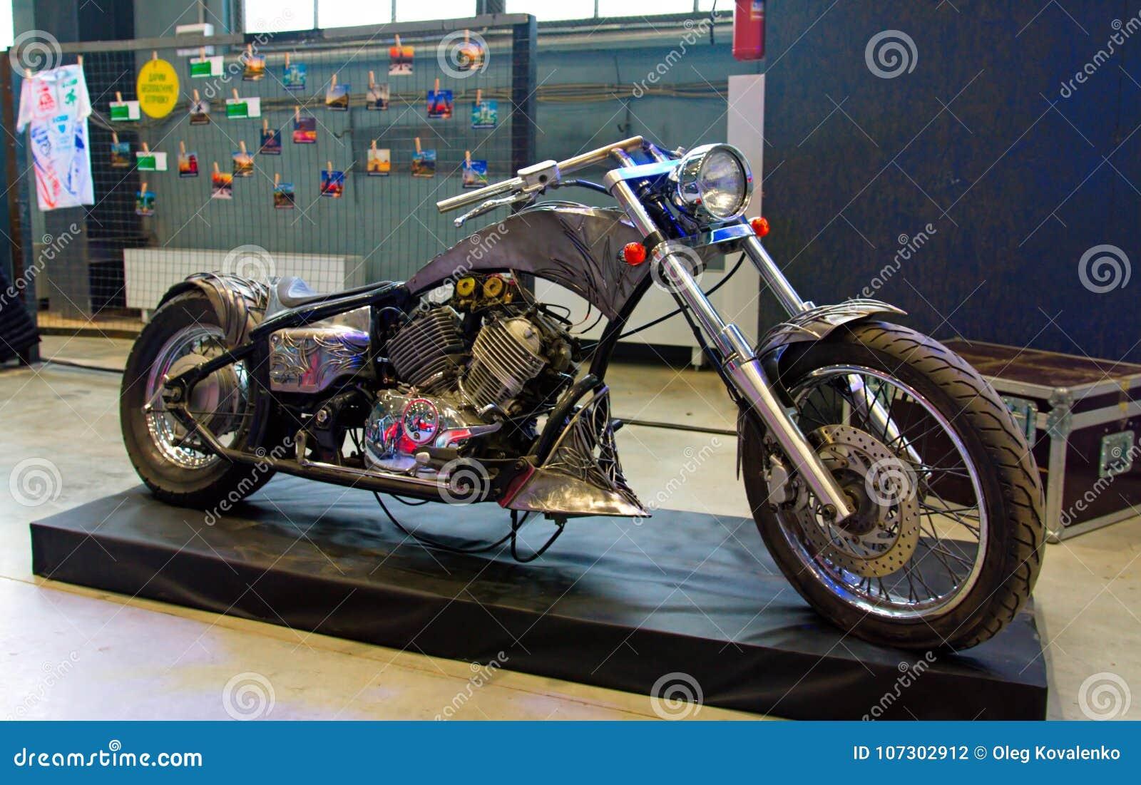 Custom Bike On Podium Of Custom & Tuning Show  Editorial