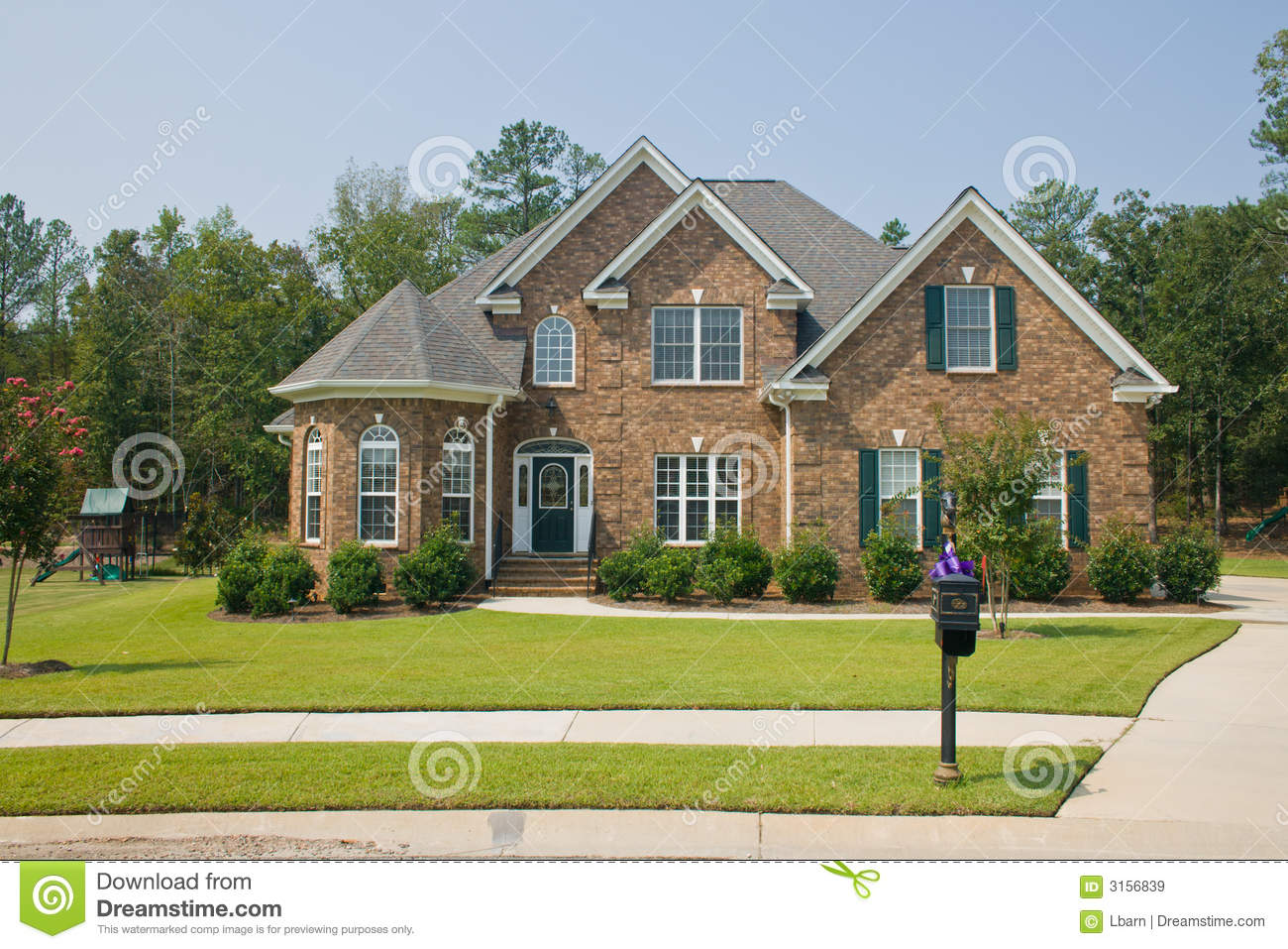 Custom Brick Home Royalty Free Stock Images Image 3156839