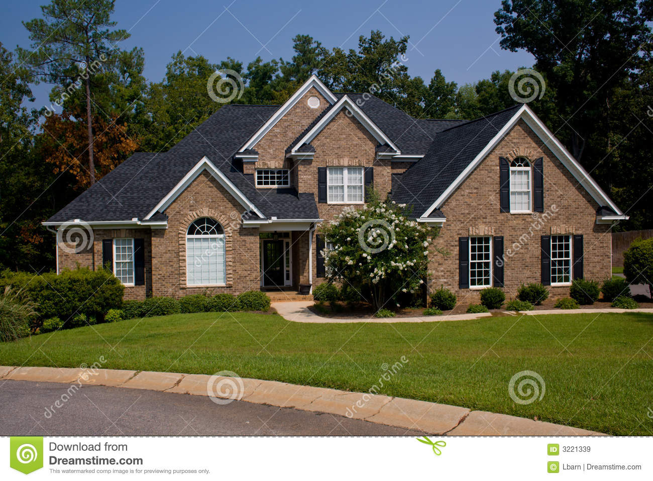 custom brick home royalty free stock images image 3221339