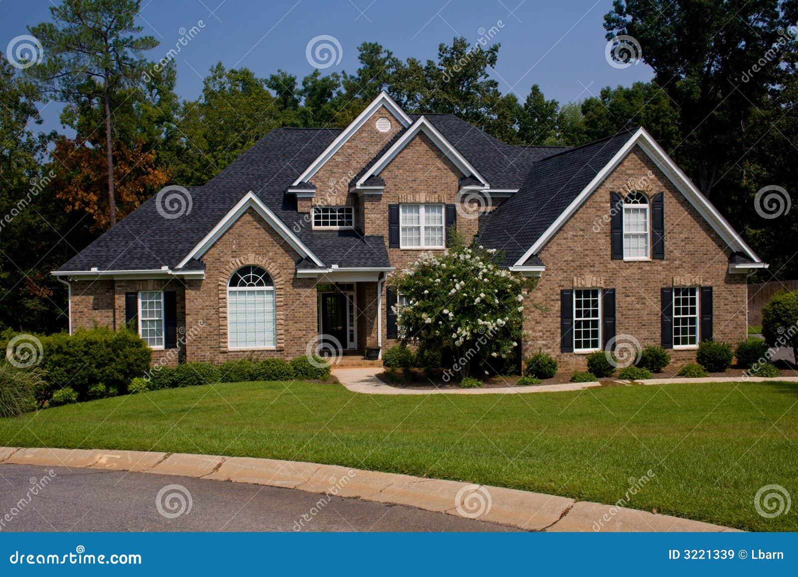 Custom Brick Home Royalty Free Stock Images - Image: 3221339