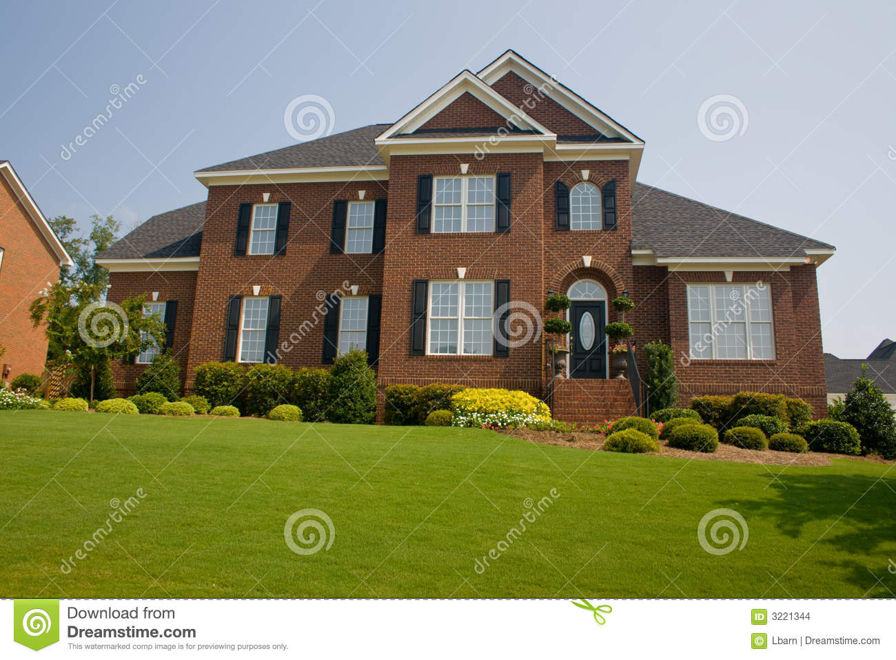 Custom Brick Home Stock Images Image 3221344